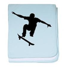 Skateboarder Silhouette baby blanket