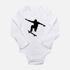 Skateboarder Silhouette Body Suit