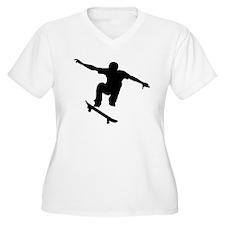 Skateboarder Silhouette Plus Size T-Shirt