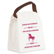 Pink Always Be a Unicorn Canvas Lunch Bag