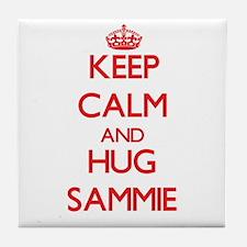 Keep Calm and HUG Sammie Tile Coaster