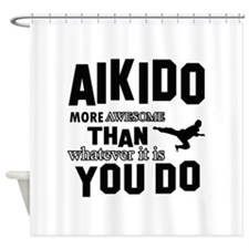 Awesome AIKIDO designs Shower Curtain