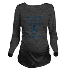 Blue Always Be Yours Long Sleeve Maternity T-Shirt