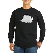 Needle Nose Fish Silhouette Long Sleeve T-Shirt