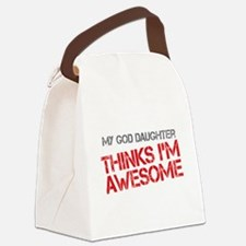 God Daughter Awesome Canvas Lunch Bag
