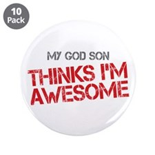 """God Son Awesome 3.5"""" Button (10 pack)"""