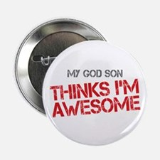 "God Son Awesome 2.25"" Button"