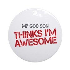God Son Awesome Ornament (Round)