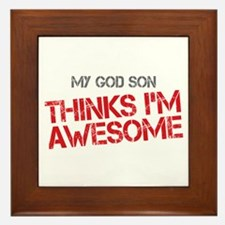 God Son Awesome Framed Tile