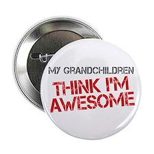 """Grandchildren Awesome 2.25"""" Button"""