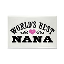 World's Best Nana Rectangle Magnet