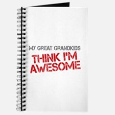 Great Grandkids Awesome Journal
