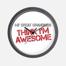 Great Grandkids Awesome Wall Clock