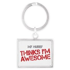 Hubby Awesome Landscape Keychain