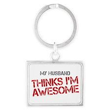 Husband Awesome Landscape Keychain