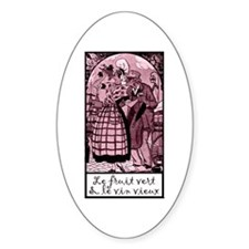 Old Wine French Oval Sticker