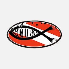 scuba fish flag LP Patches