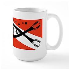 scuba fish flag LP Mugs