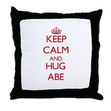 Keep Calm and HUG Abe Throw Pillow