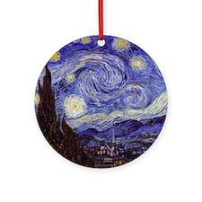 Vincent Van Gogh Starry Night Round Ornament