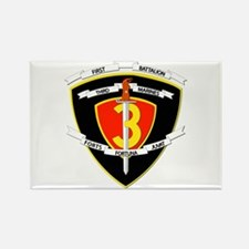 SSI - 1st Battalion - 3rd Marines Rectangle Magnet