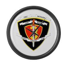 SSI - 1st Battalion - 3rd Marines Large Wall Clock