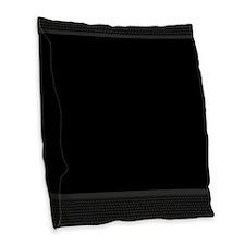 Basket Weave - Black Burlap Throw Pillow