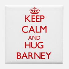 Keep Calm and HUG Barney Tile Coaster