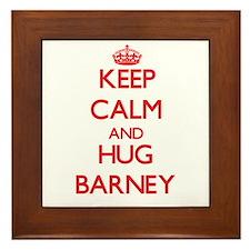 Keep Calm and HUG Barney Framed Tile
