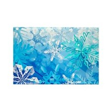 Beautiful Snowflakes Rectangle Magnet