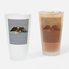 Eagle running Drinking Glass