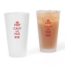 Keep Calm and HUG Bob Drinking Glass