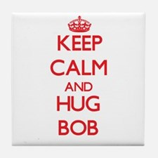 Keep Calm and HUG Bob Tile Coaster
