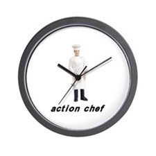 Action Chef Wall Clock