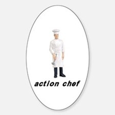 Action Chef Oval Decal