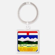 Flag of Alberta Square Keychain