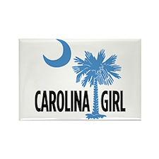 Light Blue Carolina Girl 2 Rectangle Magnet