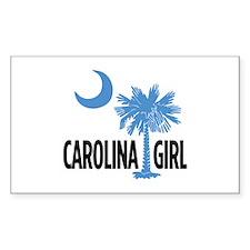 Light Blue Carolina Girl 2 Rectangle Decal