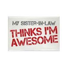 Sister-In-Law Awesome Rectangle Magnet