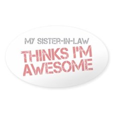 Sister-In-Law Awesome Decal