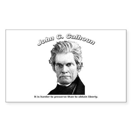 John C. Calhoun 01 Rectangle Sticker