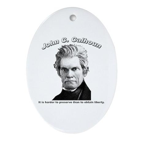 John C. Calhoun 01 Oval Ornament