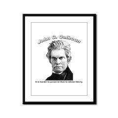 John C. Calhoun 01 Framed Panel Print