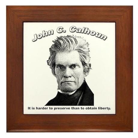 John C. Calhoun 01 Framed Tile
