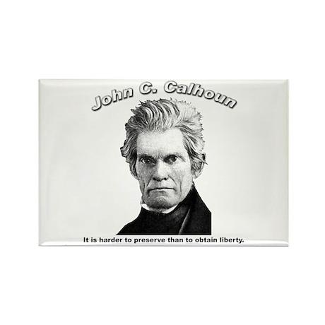 John C. Calhoun 01 Rectangle Magnet