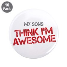 """Sons Awesome 3.5"""" Button (10 pack)"""