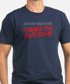 Step Daughter Awesome Men's Fitted T-Shirt (dark)