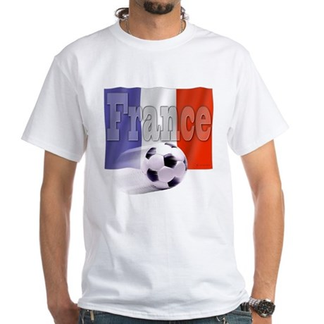 Soccer Flag France White T-Shirt
