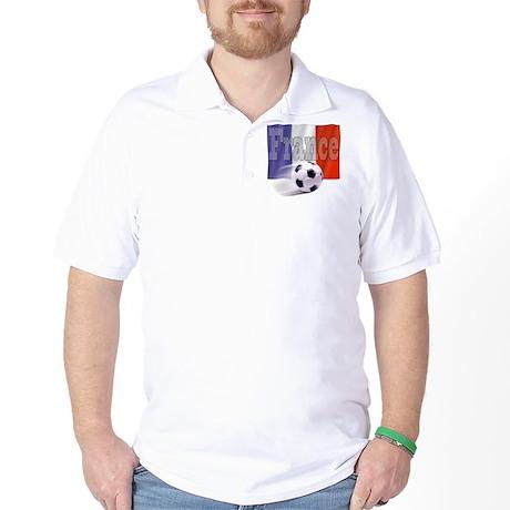 Soccer Flag France Golf Shirt