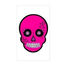 Pink Sugar Skull Day of the Dead Decal